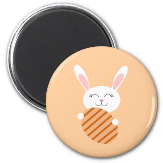 Cute Easter Bunny (Orange) Magnet