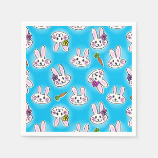 Cute Easter Bunny Pattern Napkin