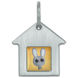 Cute Easter Bunny Pet ID Tags