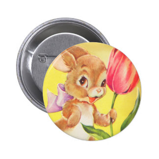 Cute Easter Bunny Pinback Button