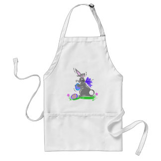 Cute Easter Bunny Rabbit Adult Apron