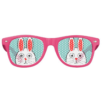 Cute Easter Bunny Retro Sunglasses
