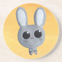 artsprojekt, bunny, rabbit, cute, kawaii, comic, cartoon, sweet, for kids, easter, easter bunny, easter rabbit, cartoon bunny, cartoon rabbit, cute rabbit, cute bunny, illustration bunny, animal, Descanso para copos com design gráfico personalizado