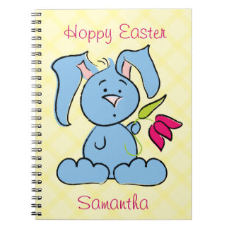 Cute Easter Bunny Spiral Note Book