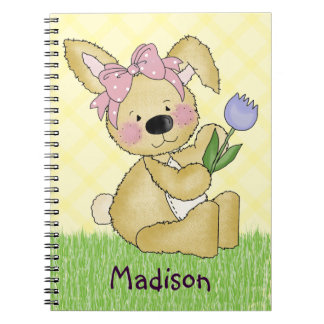 Cute Easter Bunny Spiral Notebooks