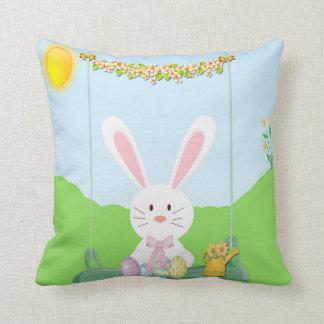 Cute Easter Bunny Throw Pillow