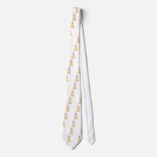 cute easter bunny with yellow egg tie
