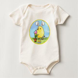 Cute Easter Chick Baby Bodysuit