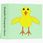 Cute Easter Chick Custom Photo Album 3 Ring Binder