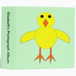 Cute Easter Chick Custom Photo Album 3 Ring Binder