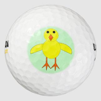Cute Easter Chick Golf Ball