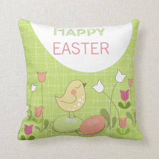 Cute Easter Chick Greeting Pillow