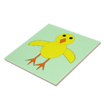 Cute Easter Chick Tile