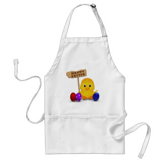 Cute Easter Chick with Sign - Apron Standard Apron