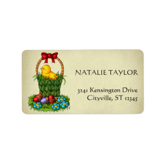 Cute Easter Chicken Address Label