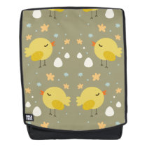 Cute easter chicks and little eggs pattern backpack
