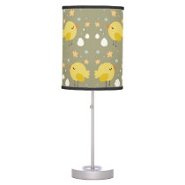 Cute easter chicks and little eggs pattern desk lamp