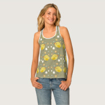 Cute easter chicks and little eggs pattern tank top