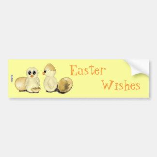 Cute Easter Chicks Bumper Sticker