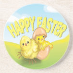 Cute Easter Chicks Happy Easter Coasters