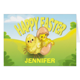 Cute Easter Chicks Happy Easter Greeting Cards