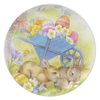 Cute Easter chicks Plate