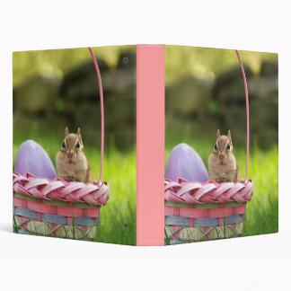 "Cute Easter Chipmunk 1"" Photo Album 3 Ring Binder"