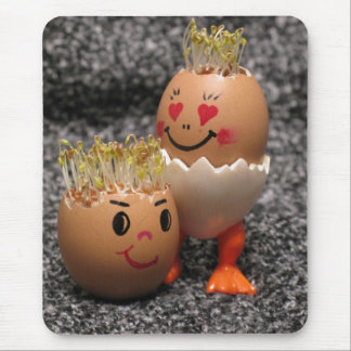 Cute Easter Couple- Eggs With Hair Mouse Pad