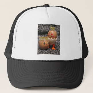 Cute Easter Couple- Eggs With Hair Trucker Hat