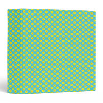 Cute Easter Daffodils on Blue 3 Ring Binder
