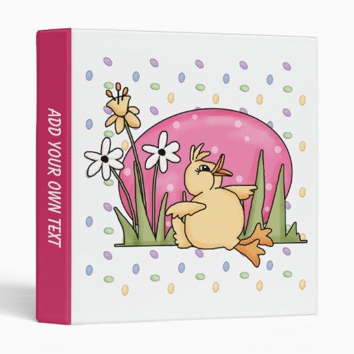 Cute Easter Duck 3 Ring Binder