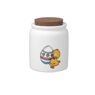 Cute Easter Duck Design Candy Jars