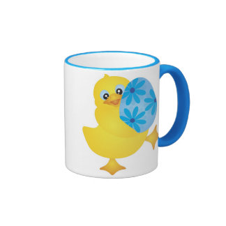 Cute Easter Duckling with Egg Mug