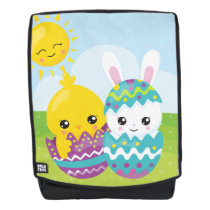 Cute easter duo backpack