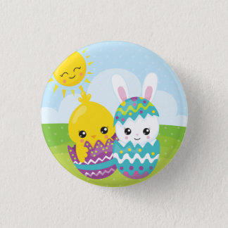 Cute easter duo button