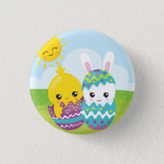 Cute easter duo pinback button