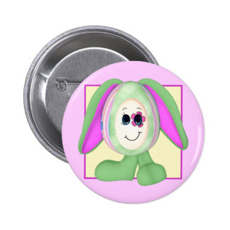 Cute Easter Egg Bunny 2 Inch Round Button