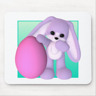 Cute Easter Egg Bunny Mouse Pad