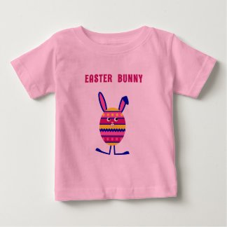 Cute Easter egg bunny pink Baby T-Shirt