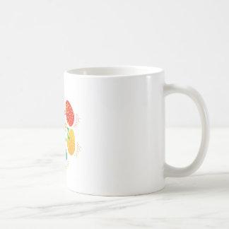 "Cute ""Easter Egg"" cirlce design Coffee Mugs"