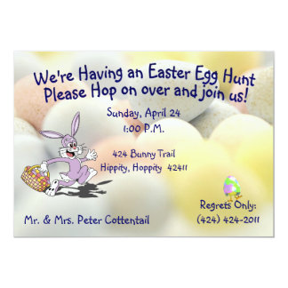 Cute Easter Egg Hunt Invitation