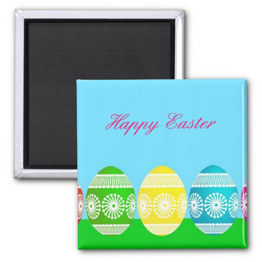 Cute Easter egg powder blue sky magnet