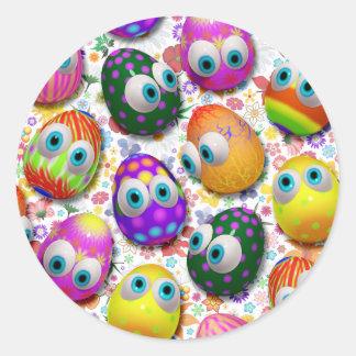 Cute Easter Eggs Cartoon Stickers