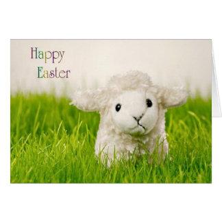 Cute Easter Lamb Greeting Card