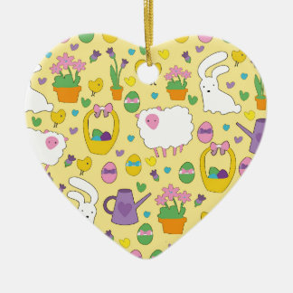 Cute Easter pattern Ceramic Ornament