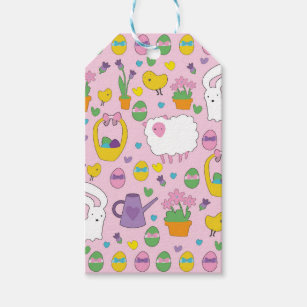 Religious easter gift tags zazzle cute easter pattern gift tags negle Choice Image