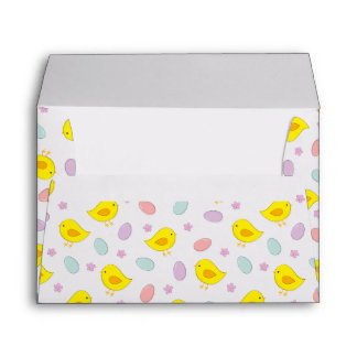 Cute Easter pattern with chickens, eggs, flowers Envelope
