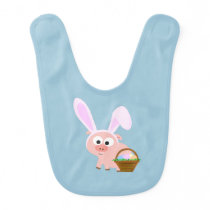 Cute Easter Pig Baby Bib