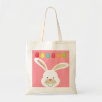 Cute Easter Rabbit Personalized Custom Tote Bag