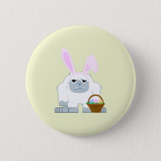 Cute Easter Yeti Button